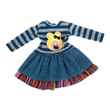 Cute animal print doll clothes for 18 inch american girl doll dress