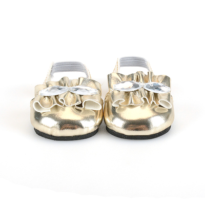 Golden doll shoes blinking style doll shoes for 18 inch girl doll