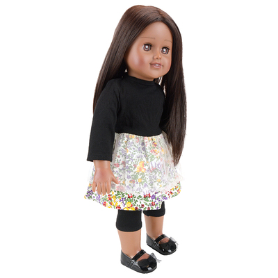 Black doll 18 inch american girl dolls for vinyl doll toys