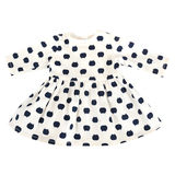 Black-and-white doll dress 18 inch american girl doll clothes