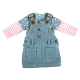Cute doll clothes 18 inch soft baby girl doll suits