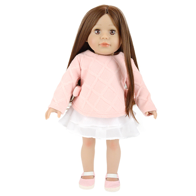 18'' vinyl doll pink princess american girl doll for OEM doll